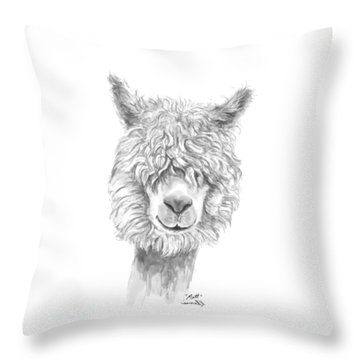 Throw Pillow featuring the drawing Matt by K Llamas
