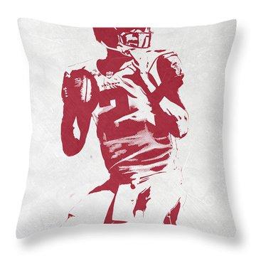 Matt Ryan Atlanta Falcons Pixel Art 2 Throw Pillow by Joe Hamilton