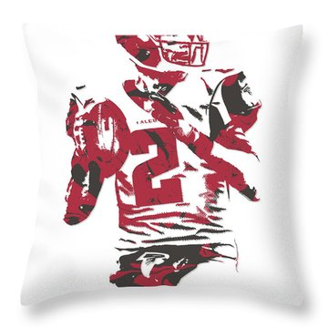 Matt Ryan Atlanta Falcons Pixel Art 7 Throw Pillow