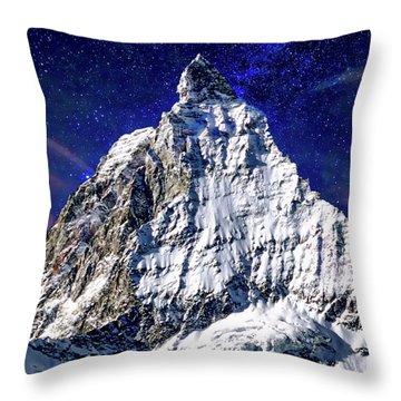 Matterhorn At Twilight Throw Pillow