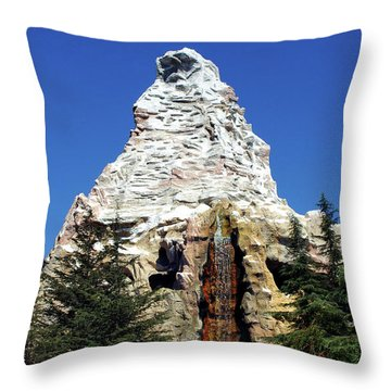 Matterhorn Disneyland Throw Pillow