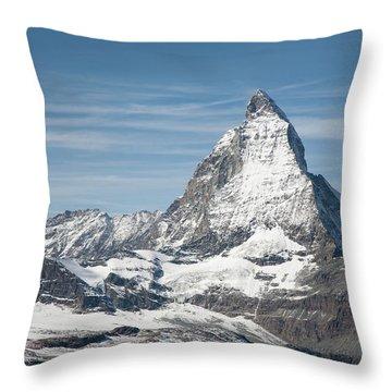 Matterhorn Throw Pillow by Marty Garland