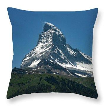 Matterhorn, Switzerland Throw Pillow