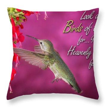 Matthew 6 26 Throw Pillow