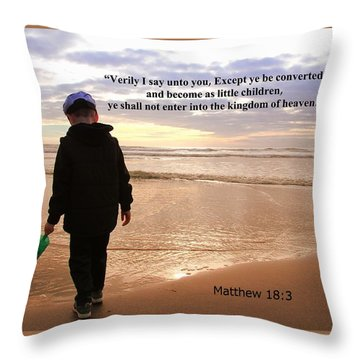 Throw Pillow featuring the photograph Matthew Eighteen Three by Aaron Berg