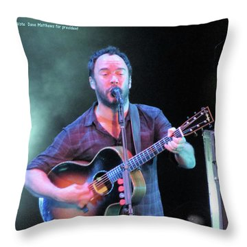 Throw Pillow featuring the photograph Matthews For President by Aaron Martens