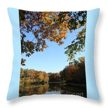 Matthiessen Lake In Autumn Throw Pillow