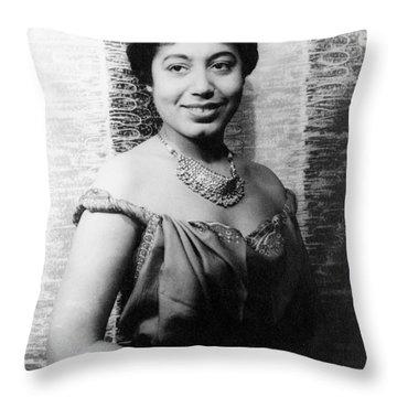 Mattiwilda Dobbs (1925- ) Throw Pillow by Granger