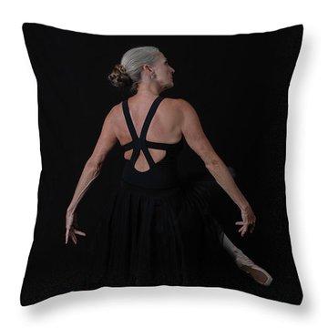 Mature Ballerina Elegance Throw Pillow