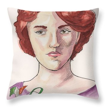 Maud Gonne Throw Pillow by Whitney Morton