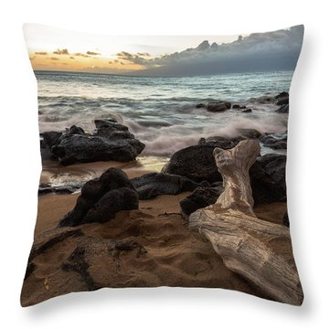 Maui Beach Sunset Throw Pillow