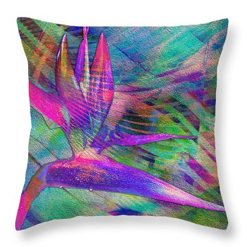 Maui Bird Of Paradise Throw Pillow