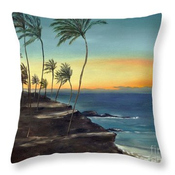 Throw Pillow featuring the painting Maui by Carol Sweetwood