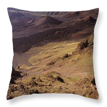 Maui, Haleakala Crater Throw Pillow by Mary Van de Ven - Printscapes