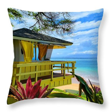 Maui Kamaole Beach Throw Pillow