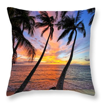 Maui Magic Throw Pillow by James Roemmling