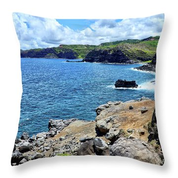 Maui North Shore Throw Pillow