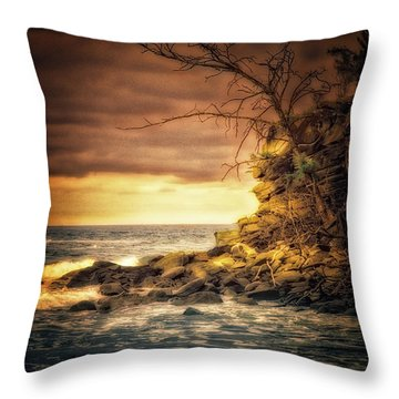 Maui Ocean Point Throw Pillow