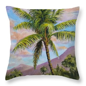Maui Palm Throw Pillow
