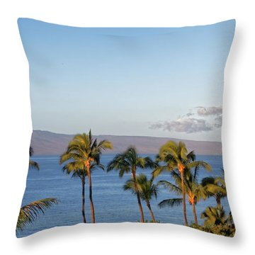 Throw Pillow featuring the photograph Maui Palms by Lars Lentz