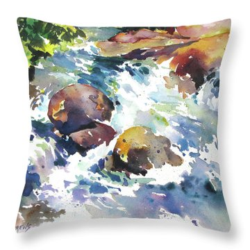 Maui Rapids Throw Pillow