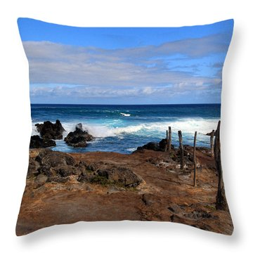Maui Seascape Throw Pillow by John Bushnell