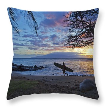 Maui Style Throw Pillow by James Roemmling