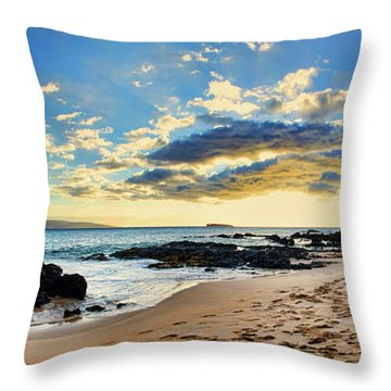 Maui Sunset Panorama Throw Pillow