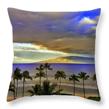 Maui Sunset At Hyatt Residence Club Throw Pillow