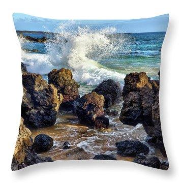 Maui Wave Crash Throw Pillow