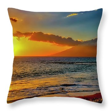 Maui Wedding Beach Sunset  Throw Pillow