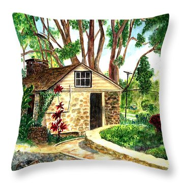Maui Winery Throw Pillow