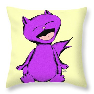 Maumau Cat Laughing Throw Pillow