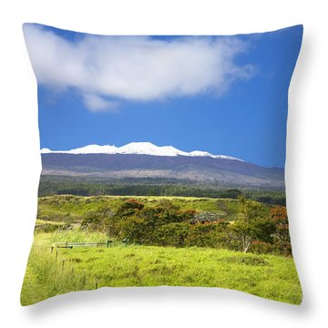Mauna Kea Throw Pillow by Peter French - Printscapes