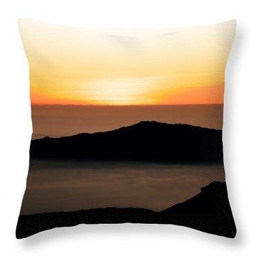 Mauna Kea Sunset Throw Pillow