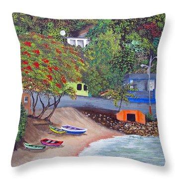 Maunabo Pescaderia Throw Pillow