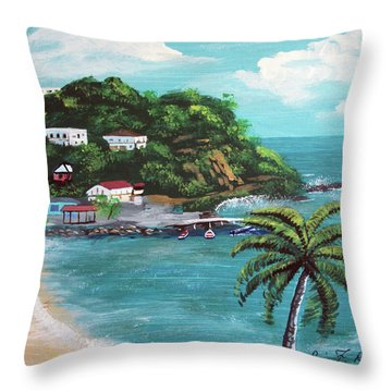 Maunabo Puerto Rico Throw Pillow by Luis F Rodriguez