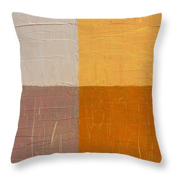 Mauve And Peach Throw Pillow