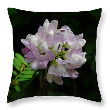 Mauve Flower Throw Pillow by Valerie Ornstein