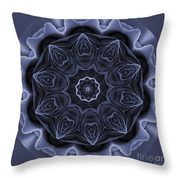 Mauve Rose Mandala Throw Pillow
