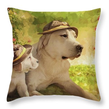 Maverick - Commissioned Throw Pillow