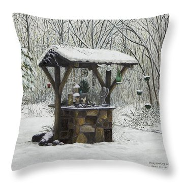 Mavis' Well Throw Pillow by Mary Ann King