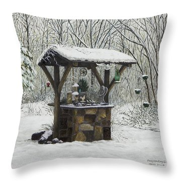 Mavis' Well Throw Pillow