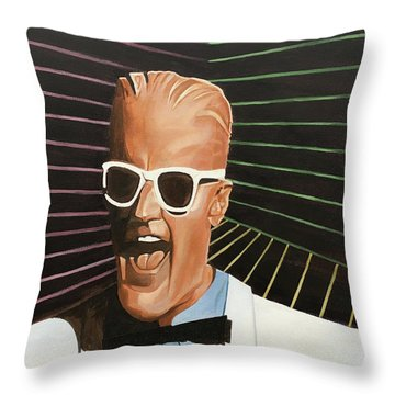 Max Headroom Throw Pillow