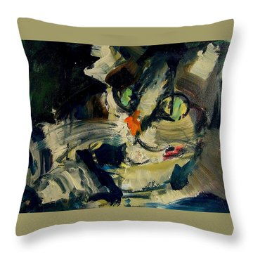 Throw Pillow featuring the painting Max by Les Leffingwell