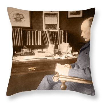 Max Planck, German Physicist Throw Pillow by Science Source