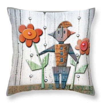 Max The God Of May Throw Pillow by Joan Ladendorf