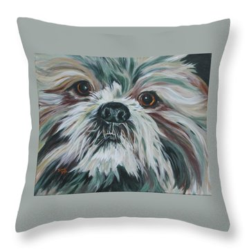 Max Up Close And Personal Throw Pillow