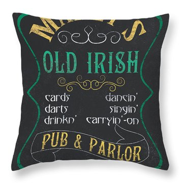 Maxey's Old Irish Pub Throw Pillow