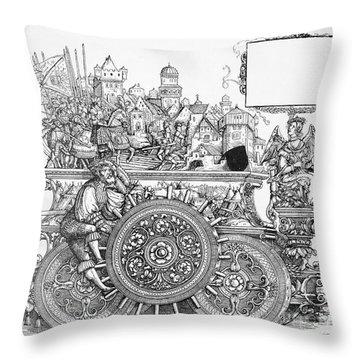 Maximilian I 1459-1519 Throw Pillow by Granger